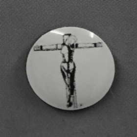 Crucifixion Black Logo and White Background Hankie Pin 10mm